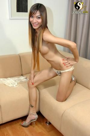 slutty asian ladyboy strips naked